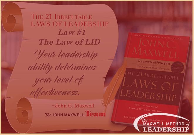 Maxwell Method of Leadership - The Law of Lid