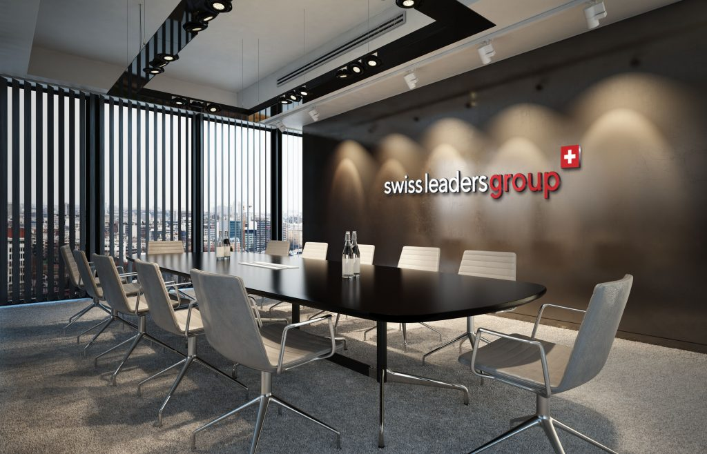 Artist rendering of a Swiss Leaders Group's office